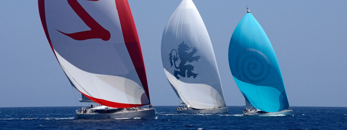 Sailing Yachts during a race